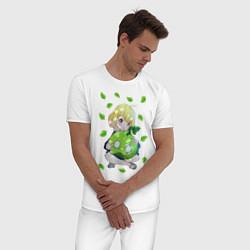 Пижама хлопковая мужская Суйка цвета белый — фото 2