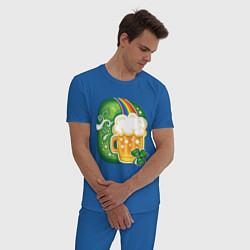 Пижама хлопковая мужская Традиционное питье на Патрика цвета синий — фото 2