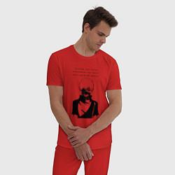 Пижама хлопковая мужская NEVER TRUST Tokyo Ghoul цвета красный — фото 2