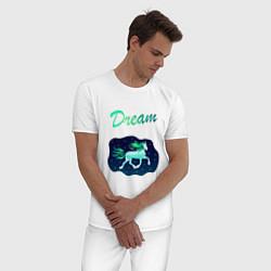Пижама хлопковая мужская Dream цвета белый — фото 2