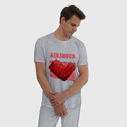 Пижама хлопковая мужская A r mour цвета меланж — фото 2