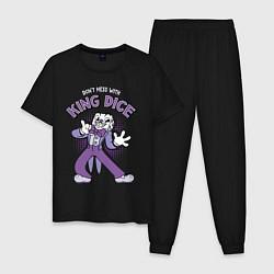 Пижама хлопковая мужская King Dice, Cuphead цвета черный — фото 1