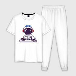 Пижама хлопковая мужская ДИДЖЕЙ DJ Z цвета белый — фото 1