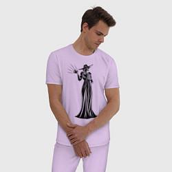 Пижама хлопковая мужская Alcina Dimitrescu цвета лаванда — фото 2