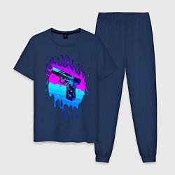 Пижама хлопковая мужская Glok 17 цвета тёмно-синий — фото 1