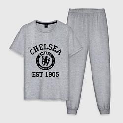 Пижама хлопковая мужская Chelsea 1905 цвета меланж — фото 1