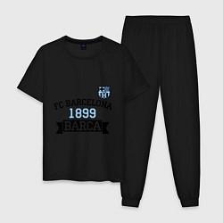 Пижама хлопковая мужская Barca 1899 цвета черный — фото 1