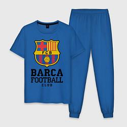 Пижама хлопковая мужская Barcelona Football Club цвета синий — фото 1