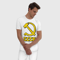 Пижама хлопковая мужская СССР цвета белый — фото 2