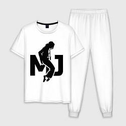 Пижама хлопковая мужская MJ Music цвета белый — фото 1
