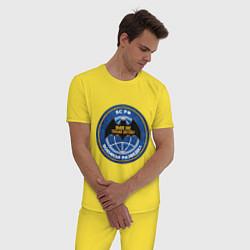 Пижама хлопковая мужская ВС РФ: Военная разведка цвета желтый — фото 2