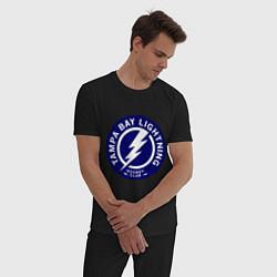 Пижама хлопковая мужская HC Tampa Bay Lightning цвета черный — фото 2