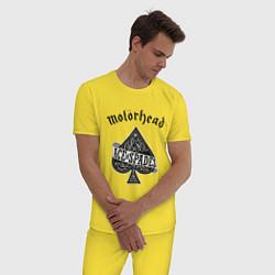 Пижама хлопковая мужская Motorhead: Ace of spades цвета желтый — фото 2