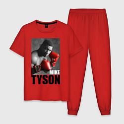 Пижама хлопковая мужская Mike Tyson цвета красный — фото 1
