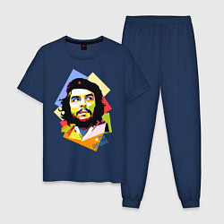 Пижама хлопковая мужская Che Guevara Art цвета тёмно-синий — фото 1