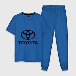 Пижама хлопковая мужская Toyota Logo цвета синий — фото 1