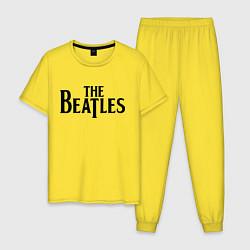 Пижама хлопковая мужская The Beatles цвета желтый — фото 1
