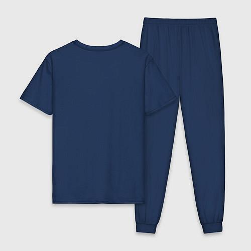 Мужская пижама Mathematica (Математика) / Тёмно-синий – фото 2