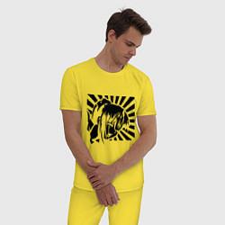 Пижама хлопковая мужская Hentai Girl цвета желтый — фото 2