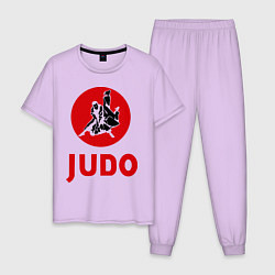 Пижама хлопковая мужская Judo цвета лаванда — фото 1