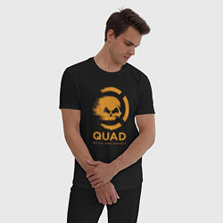 Пижама хлопковая мужская QuaD: Quick and Deadly цвета черный — фото 2