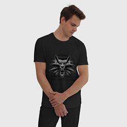 Пижама хлопковая мужская The Witcher 3 цвета черный — фото 2