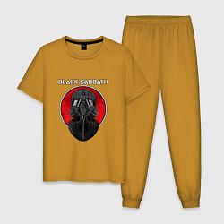 Пижама хлопковая мужская Black Sabbath: Toxic цвета горчичный — фото 1