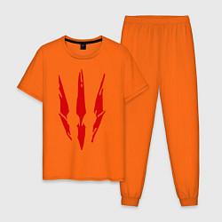 Пижама хлопковая мужская Ведьмак 3 цвета оранжевый — фото 1