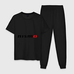 Пижама хлопковая мужская Nismo цвета черный — фото 1
