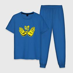 Пижама хлопковая мужская Wu-Tang Hands цвета синий — фото 1