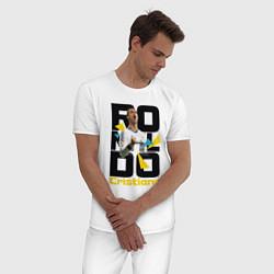 Пижама хлопковая мужская Ronaldo Funs цвета белый — фото 2