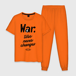 Пижама хлопковая мужская War never changes цвета оранжевый — фото 1