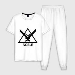 Пижама хлопковая мужская Noble Halo цвета белый — фото 1