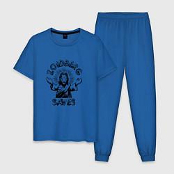 Пижама хлопковая мужская Zoidberg Saves цвета синий — фото 1