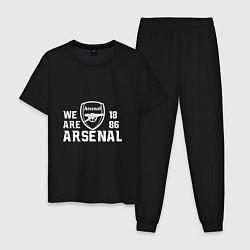 Пижама хлопковая мужская We are Arsenal 1886 цвета черный — фото 1