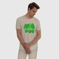 Пижама хлопковая мужская Bulbasaur Shadow цвета миндальный — фото 2