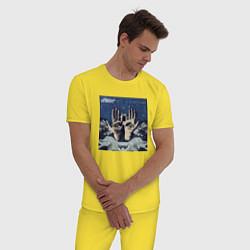 Пижама хлопковая мужская Chemical Brothers: The night цвета желтый — фото 2