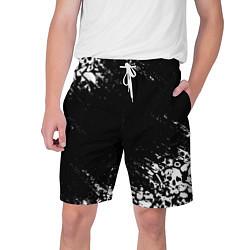 Шорты на шнурке мужские БЕЛЫЕ ЧЕРЕПА цвета 3D — фото 1