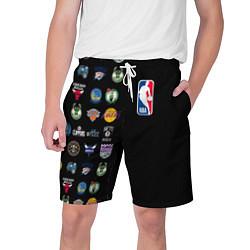 Шорты на шнурке мужские NBA Team Logos 2 цвета 3D-принт — фото 1