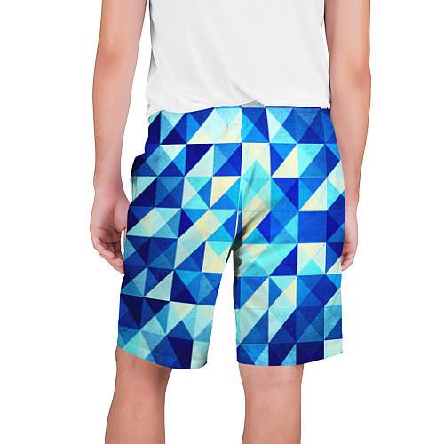 Мужские шорты Синяя геометрия / 3D – фото 2