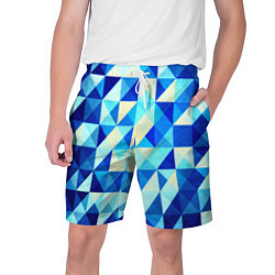 Мужские шорты Синяя геометрия