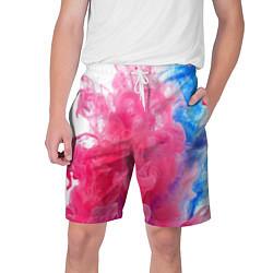 Шорты на шнурке мужские Взрыв красок цвета 3D — фото 1