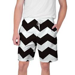 Шорты на шнурке мужские Полосы цвета 3D — фото 1