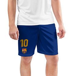Шорты спортивные мужские FCB: Lionel Messi 2018 цвета 3D-принт — фото 2