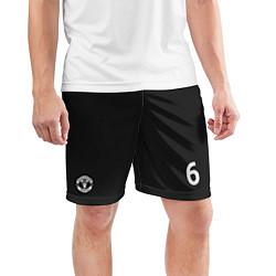 Шорты спортивные мужские Man UTD FC: Pogba Home 17/18 цвета 3D — фото 2