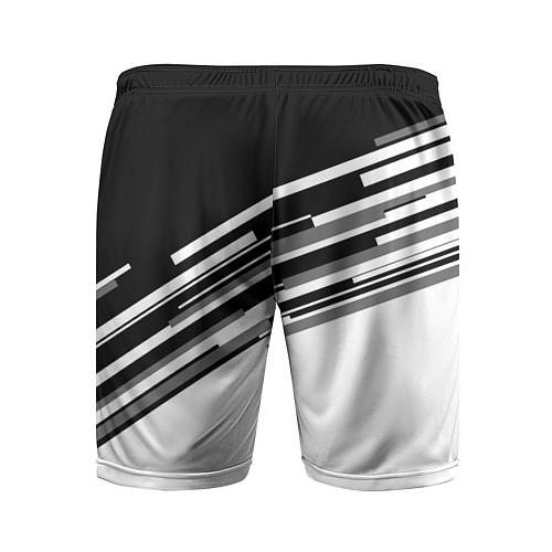 Мужские спортивные шорты FC Juventus: B&W Line / 3D – фото 2