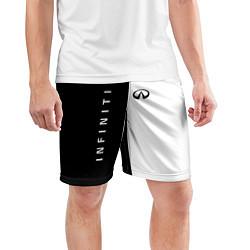 Шорты спортивные мужские Infiniti: Black & White цвета 3D — фото 2