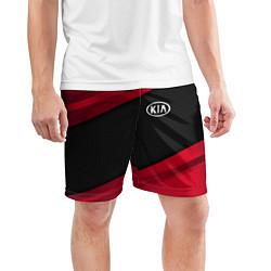 Шорты спортивные мужские Kia: Red Sport цвета 3D — фото 2