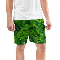Шорты спортивные мужские Тропический лес цвета 3D — фото 2