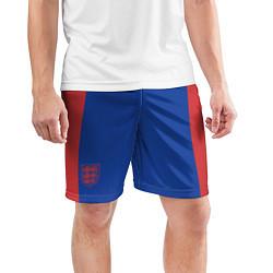 Шорты спортивные мужские Выездные Шорты Сборной Англии цвета 3D-принт — фото 2